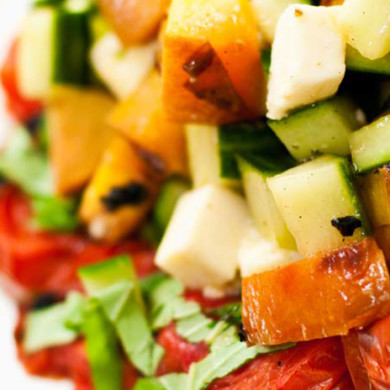 Heirloom Tomatoes, Avocado, Mango and Cucumber